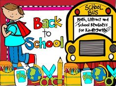 Back to School Activities (Math, Literacy and Crafts) for Kindergarten is full of fun math, literacy and crafts that help students transition into kindergarten and build on skills.  There are over 180 pages of easy to prep crafts, centers and printables.