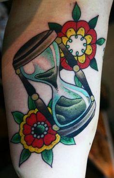 Traditional Hourglass Tattoo Outline Top 9 hourglass tattoo designs ...