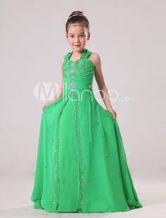 Attractive Orange Spaghetti Net Girls Pageant Dress. Attractive ...