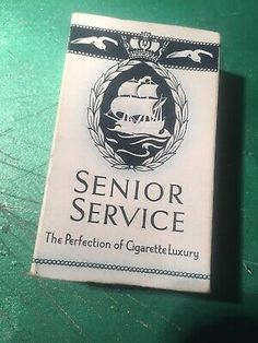 Vintage packet of 10 Senior Service cigarettes (empty) . Condition is Used. Dispatched with Royal Mail Class. Navy Times, Senior Services, Cool Lighters, Cigarette Brands, Royal Mail, Glasgow, Empty, Arrow, Smoking