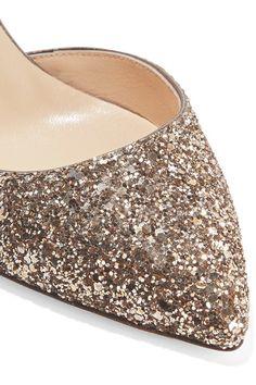 52efe6ea360f Jimmy Choo - Lucy 85 glittered leather pumps