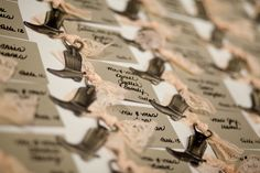 Dee + Ryan's wedding: Cowboy Escort Cards