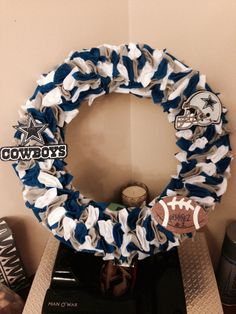 Dallas Cowboys football wreath