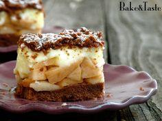 Bake&Taste: Kakaowa szarlotka z budyniem