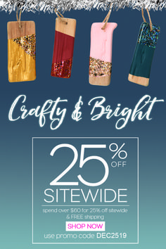 Shop 25% off sitewide for all your paint and crafting needs this holiday. Shop now until December 25, 2019.