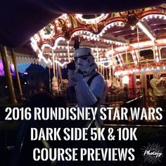 Casual Runner's Course Previews of the 2016 Star Wars Dark Side 5K and 10K…