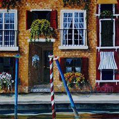"Original Acrylic Painting18x18 ""Venice"".  $625.00"