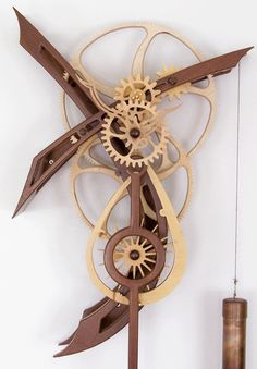 Wooden Gear Clock Plans from Hawaii by Clayton Boyer