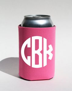 Distinguish your beverage from the rest with this adorable monogrammed koozie! CIRCLE Monogram Can Koozie by BeBopProps, $5.00  https://www.etsy.com/listing/189229398/circle-monogram-can-koozie-one-sided?ref=shop_home_active_1