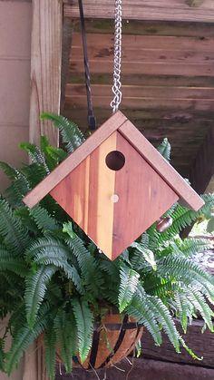 Reclaimed wood with new. Carolina Wren birdhouse.