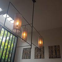 Design d'un plafonnier ARIANNE pour un ancien atelier d'artiste à Paris, transformé en duplex.