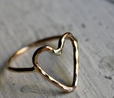 14k Heart Ring  by Rachel Pfeffer. I've been wearing an almost identical ring since I was 14 or 15.  :)