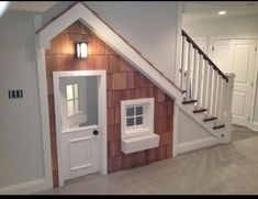 Awesome kids play house built in under stairs