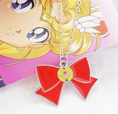 Relaxcos Sailor Moon Bow Tie Logo Cosplay Neckalce >>> You can find out more details at the link of the image.