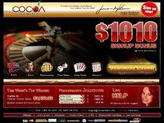 Cocoa Casino - EXCLUSIVE BONUS:  $20 No Deposit plus 500% Bonus to $250 plus $30 No Deposit after 500% Bonus Claimed. For detailed information on Cocoa Casino and to claim bonus visit: http://www.gamblingcity.com/Casinos/Cocoa-Casino