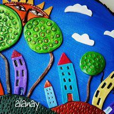 #seramik #ceramic #hobi #terapi #dekoratif #elyapımı #handmade #ağaç #tree #odundilimi #artistik #günaydın #goodmorning