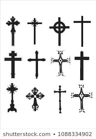 Similar Images, Stock Photos & Vectors of Crucifix cross hand drawn sketch paint brush vector icon set. Christianity orthodox, catholic religion isolated symbols set for Easter, funeral or grave memorial. Small Cross Tattoos, Cross Tattoo For Men, Cross Tattoo Designs, Cross Designs, Mayan Tattoos, Cartoon Silhouette, Knight Tattoo, Cross Symbol, Tattoo People