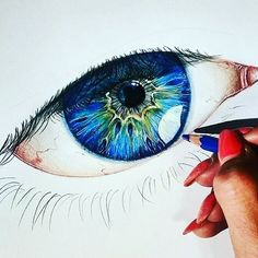 An amazing eye ❗️DM Your Art For A Chance To Be Featured ❗️❤️Double Tap❤️ #artdesires #art #eyes
