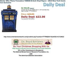 Dr. Boyd Invites you to visit our Web-Site for all the Entertainment Earth Merchandise that Walmart, K-Mart, ToysRUs, Disneyland, and Target do not carry.  We have had over 13,000 hits since we went into the Affiliate Marketing Business.  Todays Daily Deal:  http://www.entertainmentearth.com/prodinfo.asp?number=TTTRNZ0011&id=GO-412128922