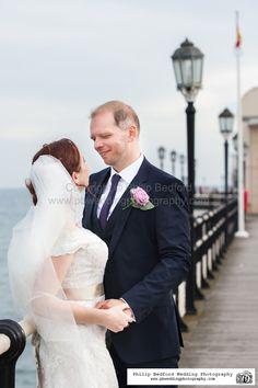 #Bride & #Groom on Worthing Pier #Sussex #Wedding