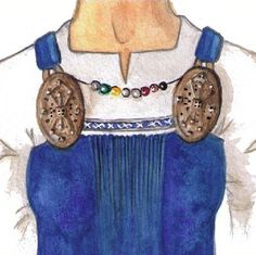 Discussion of archeological artifacts and textile fragments relating to the Viking apron dress and theories on what it looked like & how it was worn