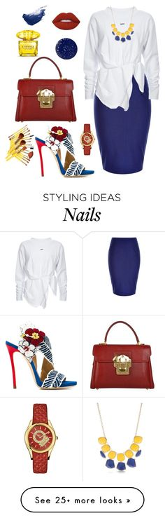"""""""Untitled #588"""" by miss-shan-nicole on Polyvore featuring Dsquared2, City Chic, Dolce&Gabbana, New Directions, Salvatore Ferragamo, Lime Crime, Versace, By Terry and NARS Cosmetics"""