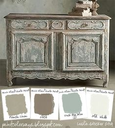 More chalk paint in colors that give a French look to items.