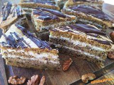 Zdravá fit marlenka - orechovo medový zákusok