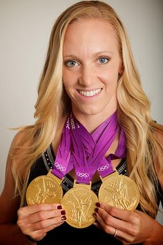 Dana Vollmer. Swimming - 4x200m freestyle 2004 @ Athens. 100m butterfly, 4x200m freestyle relay, 4x100m medley relay 2012 @ London. 4x100m medley relay 2016 @ Rio.
