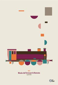 railway museum of asturias by atipo® E Design, Icon Design, Graphic Design, Train Crafts, Pub, House On A Hill, Business Card Logo, Behance, Graphic Illustration