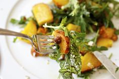 Roasted Beet Salad with Arugula Sorrel and Hazelnuts