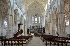 l'église abbatiale. Abbaye de Saint-Riquier. Picardie