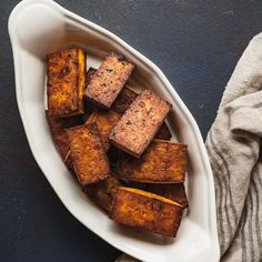 Cajun Tofu - A spicy vegan dinner idea that's full of protein and flavor! #tofu #dinnerideas #vegetarian #vegan #cajun #spicy #easy