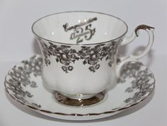 Royal Albert 25th Anniversary Congratulations by OutrageousObjects, $19.00