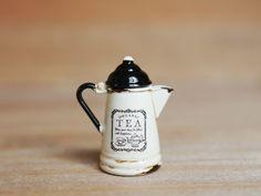 ホーロー風キッチンポット【TEA】