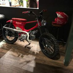 Custom Bobber, Custom Motorcycles, Custom Bikes, Cars And Motorcycles, Honda Cub, Bobber Motorcycle, Moto Bike, Homemade Motorcycle, Honda Passport