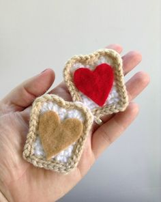 I've been seeing those adorable feltie PB and J hair clips all over the place and I thought that they would look just as cute crocheted. I w...