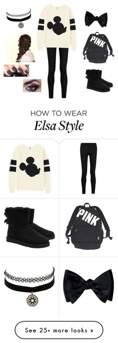 """Cute for school"" by taylor8069 on Polyvore featuring Donna Karan, Uniqlo, UGG Australia, Victoria's Secret, Charlotte Russe and Disney"