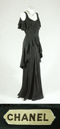 Chanel Couture Evening Gown, early-30's.... The BEST is TIMELESS