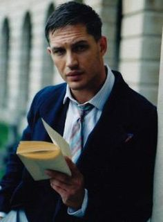 Tom Hardy, a book and those lips!