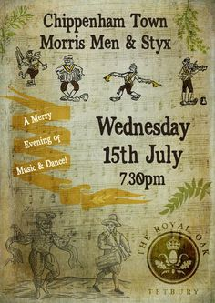 Chippenham Morris are back this week for a night of merry-making! These folk bell boys are THE best in Britain! 15/7