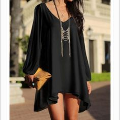 """Selling this """"Little Black Dress Long Hollow Out Sleeve"""" in my Poshmark closet! My username is: fleekboutique. #shopmycloset #poshmark #fashion #shopping #style #forsale #Dresses & Skirts"""