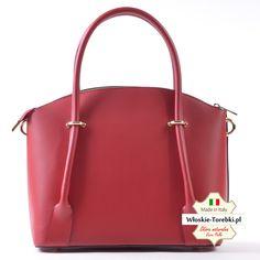 801879236b4b9 Model Floriana w pięknym kolorze czerwonym. Skórzana torebka - elegancki i  efektowny kuferek średniej wielkości
