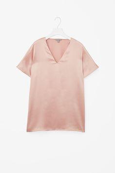 V-neck silk top