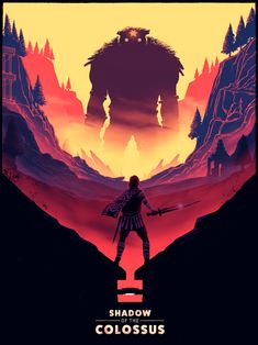 Created by kenneth fallberg haigh gaming posters shadow of the colossus, ga Fantasy, Colossus, Game Art, Game Artwork, Geeky Wallpaper, Shadow Of The Colossus, Drawing Images, Movie Poster Art, Video Game Posters