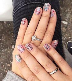Accurate nails, Drawings on nails, Easy nail designs, Everyday nails, Geometric nails, Nail art stripes, Nails ideas 2016, Party nails