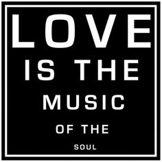 """Love Is the Music (B) 12"""" Square Word Wall Art -"""