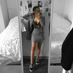 Find images and videos about girl, fashion and style on We Heart It - the app to get lost in what you love. Prom Outfits, Swag Outfits, Mode Outfits, Office Outfits, Cute Casual Outfits, Pretty Outfits, Girl Outfits, Fashion Outfits, Sneakers Fashion