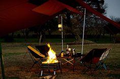 テントマークの焚き火タープ