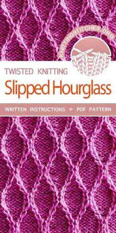 The Art of  Knitting, Twisted Knitting Patterns. The Art of  Knitting, Twisted Knitting Patterns. Knitting Stiches, Easy Knitting Patterns, Crochet Stitches Patterns, Knitting Charts, Stitch Patterns, Sewing Patterns, Knit Stitches, Knitting Needles, Crochet Pattern